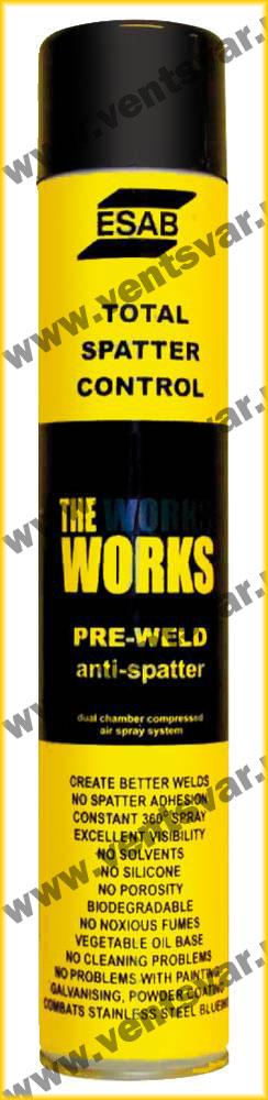 Жидкость и спрей против брызг Pre Weld