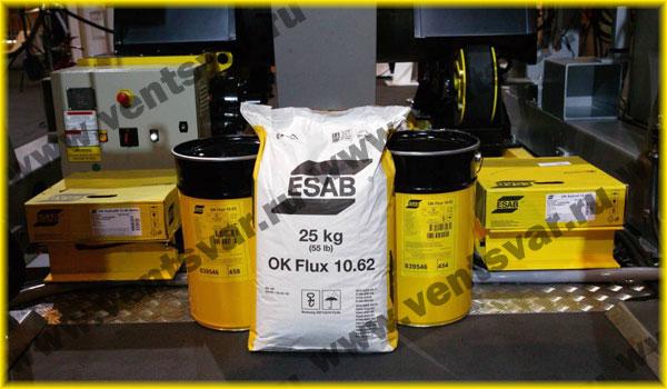 Сварочные материалы ESAB (ЭСАБ): ФЛЮС OK 10.62