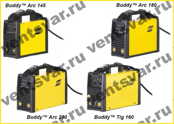 Серия сварочных аппаратов инверторного типа Buddy Arc и Buddy Tig